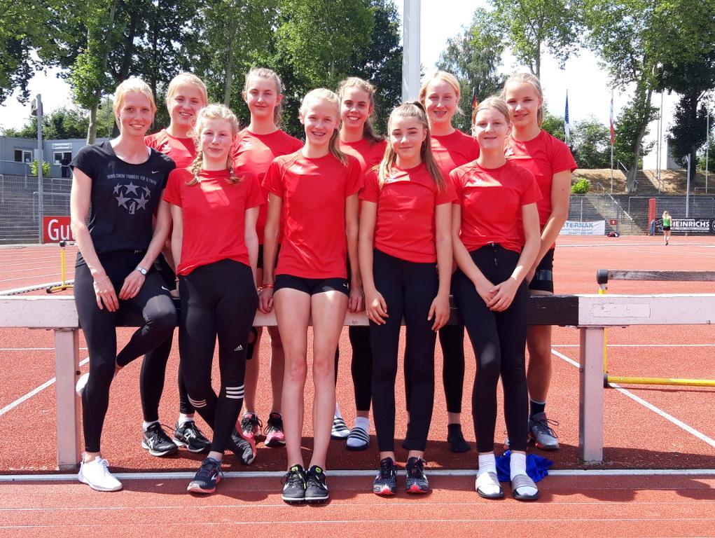 Leichtathletik-Mädchen erreichten 3.Platz bei NRW-Meisterschaft